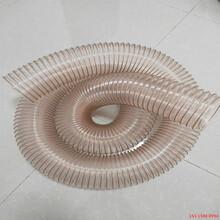 山西pu工業吸塵軟管抗撕裂鋼絲伸縮管耐磨聚氨酯圖片