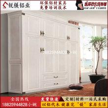 广东全铝家具现货供应无气味北欧式欧式全铝衣柜床头柜定制图片