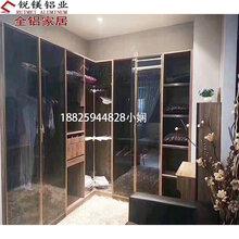 佛山厂家全铝家居衣柜材料家具铝合金型材极简玻璃门高端衣柜图片