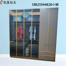 轻奢窄边极简衣柜门书柜门铝合金玻璃门酒柜门全铝合金20窄边型材厂家图片