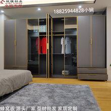 豪华极简铝框玻璃门轻奢窄边框玻璃衣柜门佛山厂家全铝家具型材批发图片