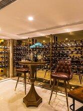 香槟金红酒柜酒架定制款-不锈钢酒柜酒窖镀钛装饰酒柜香港酒店装饰酒柜