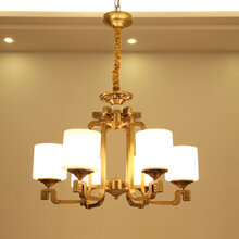 全铜新中式吊灯9211系列客厅餐厅吊灯图片