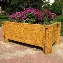 廠家直銷大量批發戶外防腐市政專用花箱水泥仿木花箱