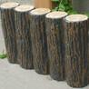 山东厂家直销水泥仿木桩大量现货草坪绿化带水泥仿木联排树桩