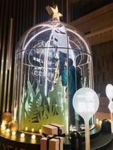 美陳透明防護罩圓球柱網紅拍攝水晶屋裝飾水晶柱圖片