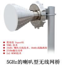 聯必達5GHz27dBm19dBi天線喇叭型無線網橋遠距離傳輸圖片