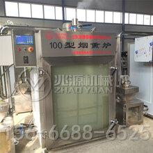德阳免翻面熏豆干机器,多功能豆干烟熏箱图片