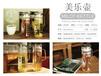 2018上海旺季热销创意带盖高硼硅玻璃水壶水杯厂家定制