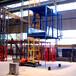 樓房施工龍門架起重機單柱雙籠物料機