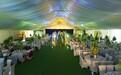 戶外婚禮酒席篷房,結婚派對活動大棚,鋁合金帳篷廠家