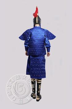 北京演出服装制作德艺坊满清盔甲(蓝)古装剧装演出服装租赁