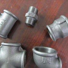 玛钢管件镀锌管件水暖燃气消防用90度镀锌铁丝扣弯头4分6分1寸图片
