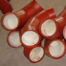 沧州耐磨厂家生产90度小口径896陶瓷复合耐磨弯头双金属弯头陶瓷贴片耐磨弯头图片