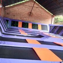 大型蹦床乐园郑州多乐蹦床生产厂家蹦床乐园蹦床安装蹦床加工定制
