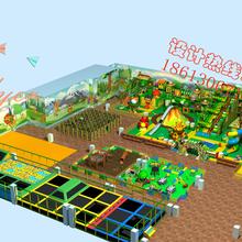 儿童游乐场淘气堡整场定制室内游乐场设备厂家直销广州飞翔家图片