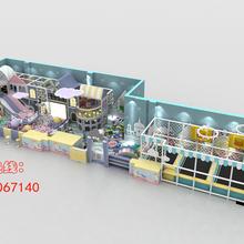 个性马卡龙淘气堡儿童乐园定制游乐设备飞翔家厂家直销图片