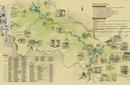 杭州十年老品牌景區手繪地圖制作,手繪畫冊制作圖片