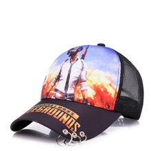 帽子厂家:绝地求生今晚吃鸡铁环印花帽子,火爆吃鸡游戏棒球帽