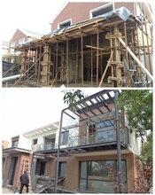 石家庄钢结构阁楼二层建造商铺扩建,阳光房钢结构楼梯焊接