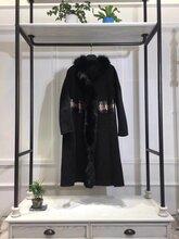 新款欧美羊绒大衣女装品牌折扣尾货批发折扣店货源走份批发