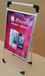 铝合金海报架广西河池立地宣传架铝合金广告器材广告栏