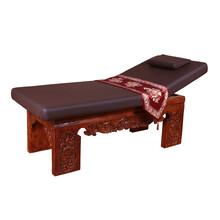 美藤中式仿古實木美容床高檔雕花按摩床推拿踩背美容床6308圖片