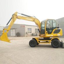 新疆阿克苏小型轮式挖掘机供应商图片