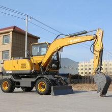 久鼎源轮式小型挖掘机,海南省直辖热门久鼎源轮式挖掘机图片
