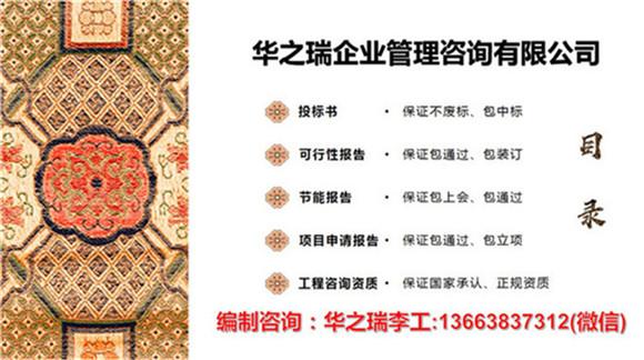 蔚县做项目申请报告公司制作申请书单位