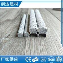 深圳市铁灰拉丝金属踢脚线生产做法图片