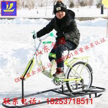 直销黑龙江冰上滑冰车亲子冰上自行车游乐设备