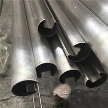 廠家直銷不銹鋼圓管槽管單槽管50.81515槽圖片