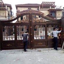 太原迎泽区铝艺围墙大门护栏厂家铝艺别墅大门阳台栏杆图片
