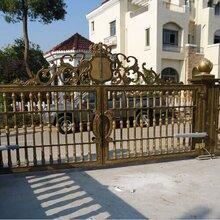 太原高新区铝艺围墙大门护栏厂家铝艺别墅大门阳台栏杆图片