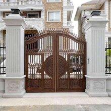 联排别墅大门设计新乡获嘉新中式庭院大门图片