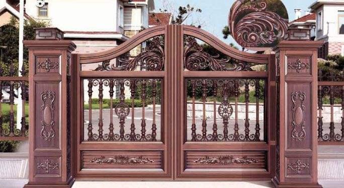 衡水安平铝合金庭院大门定制铝合金阳台护栏定制