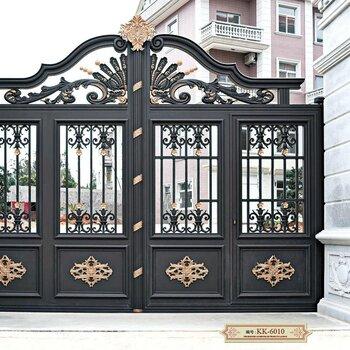 別墅鋁藝大門唐山開平區鐵藝欄桿整體設計