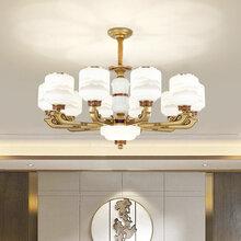 齐齐哈尔新中式吊灯黑龙滨大吊灯品牌客厅吊灯价格图片