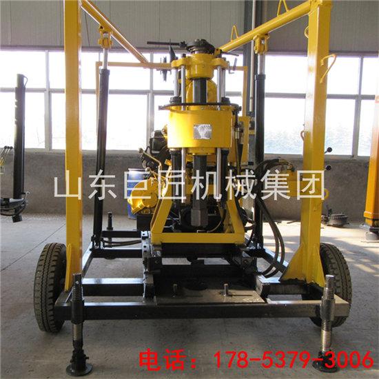 巨匠出口HZ-130Y液压岩芯钻机地质勘探柴油动力百米钻机