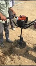 雷力小型手扶螺旋钻取土机快速掏出管桩泥土图片