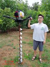 硬土质线路改造专用机器手扶式电线杆挖坑机图片