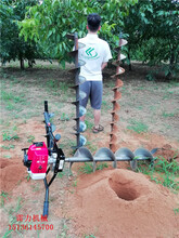 手扶式小型电线杆挖坑机价格优质电线杆钻孔机实用又经济图片
