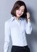東莞塘廈豐采制衣廠家直銷藍色長袖女襯衫辦公室工作服