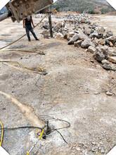 温州矿山开采裂石器液压分裂棒液压劈裂机哪家买图片