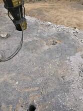 達州巖石液壓劈石機劈裂機客戶使用情況圖片
