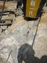 大理石材场开采不能放炮电动岩石劈裂机图片