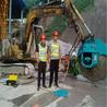岩石锯转速挖掘机