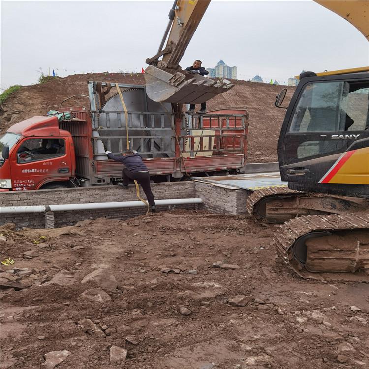 宜宾市桩基桥梁工程挖机改装切割锯操作流程