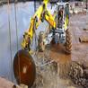 新余石材开采工程液压锯挖机锯岩石锯效率高成本低
